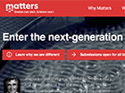 screenshot of Matters website