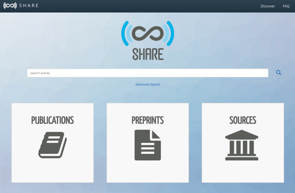 SHARE 2.0 landing page