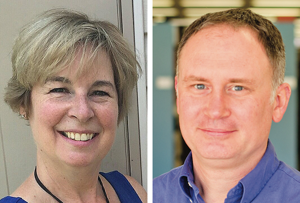 Joanne Paterson (left) and Matthew Harp (right)